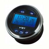 Автомобільний годинник VST 7042V з термометром і вольтметром