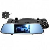 """Автомобільний відеореєстратор DVR C33 дзеркало на три камери 5"""" + touch"""