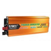 Автомобильный инвертор преобразователь  UKC 2000W 24V  AC/DC SSK