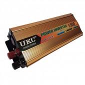 Інвертор автомобільний перетворювач напруги UKC 24V 1500W  AC/DC SSK