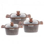 Набір каструль 6 предметів гранітне покриття Lexical LG-440601-2