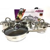 Набір посуду Benson BN-194 нержавеющая сталь 8 предметів