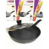 Сковорода с крышкой и мраморным покрытием 28 см Benson BN-342