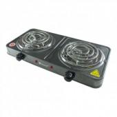 Електрична плита Domotec MS-5802 з двома конфорками 2000W, електроплита