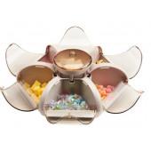 Органайзер  для солодощів цукерниця лотос 6 пелюсток Combination Fruit Plate