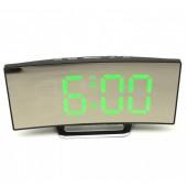 Настольные зеркальные часы DT 6507 с зеленой подсветкой