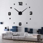 Большие настенные часы 3D кварцевые самоклеющиеся 60-120см DIY Clock NEW