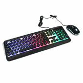 Комплект проводная клавиатура игровая LED и мышь HK3970