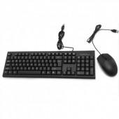 Комплект клавиатура + мышь CMK-858 проводные