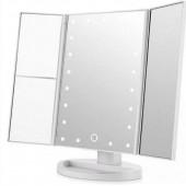 Косметическое тройное LED зеркало с сенсорным экраном и увеличителем Magic Makeup Mirror