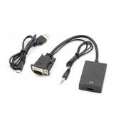 Кабель переходник HDMI to VGA адаптер с аудио Good