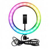 Кільцева лампа 26см RGB LED MJ26 з керуванням на дроті