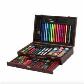 Набір для дитячої творчості ArtKids у дерев'яному кейсі з 123 предметів