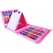Набір для творчості і малювання в валізі з 208 предметів Рожевий